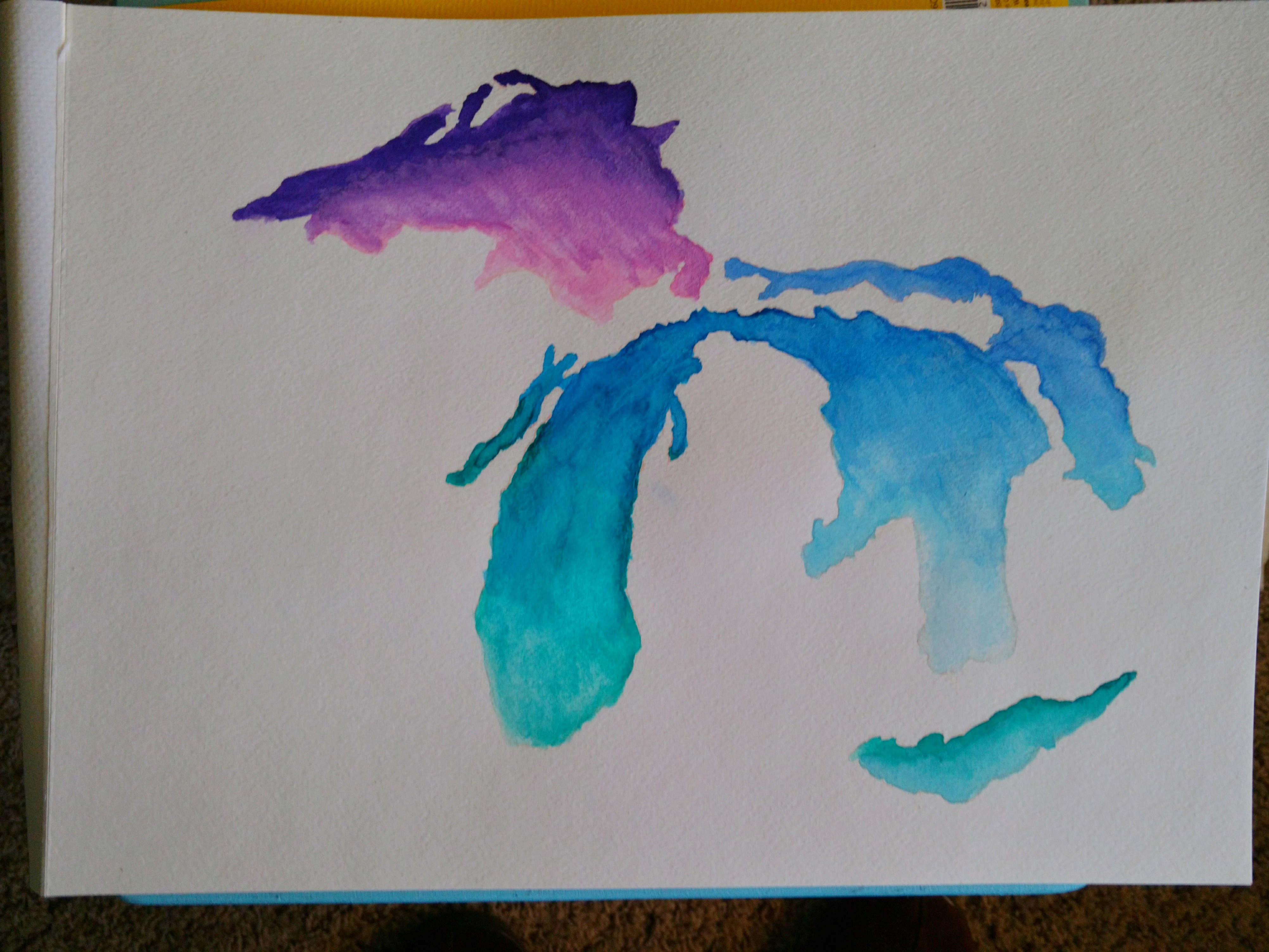 Watercolor image of The Great Lakes
